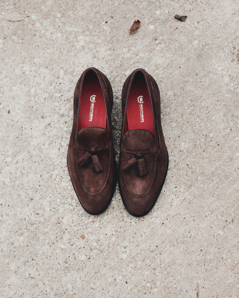 Southern Gents Newton Tassle Loafer – Chocolate Suede