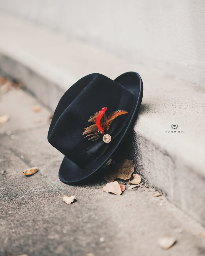 Southern Gents Trilby Fedora - Black
