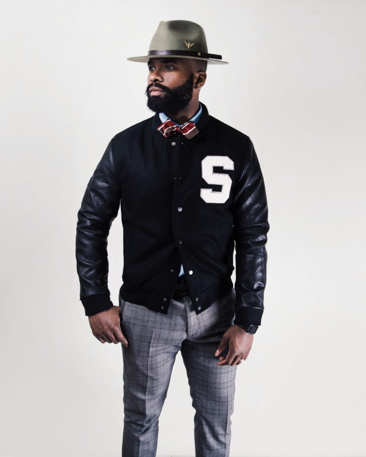 Southern Gents Varsity Jacket - Black Stealth