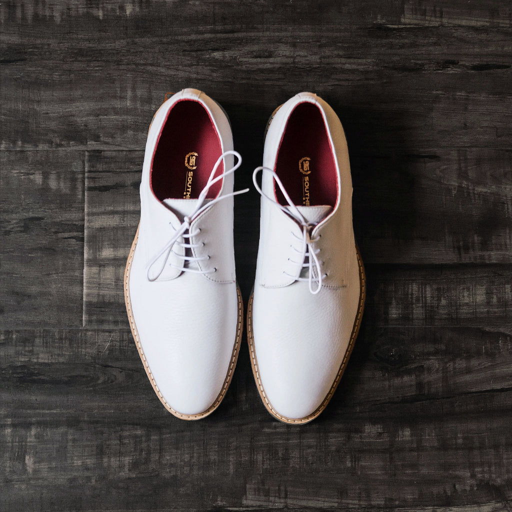 Southern Gents Jacob Derby White Oxford Men's Shoes