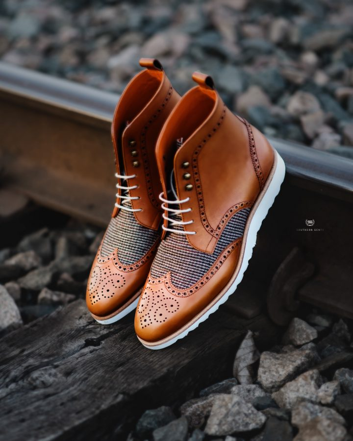 Southern Gents Rogue Sport Boot - Cognac + Tweed