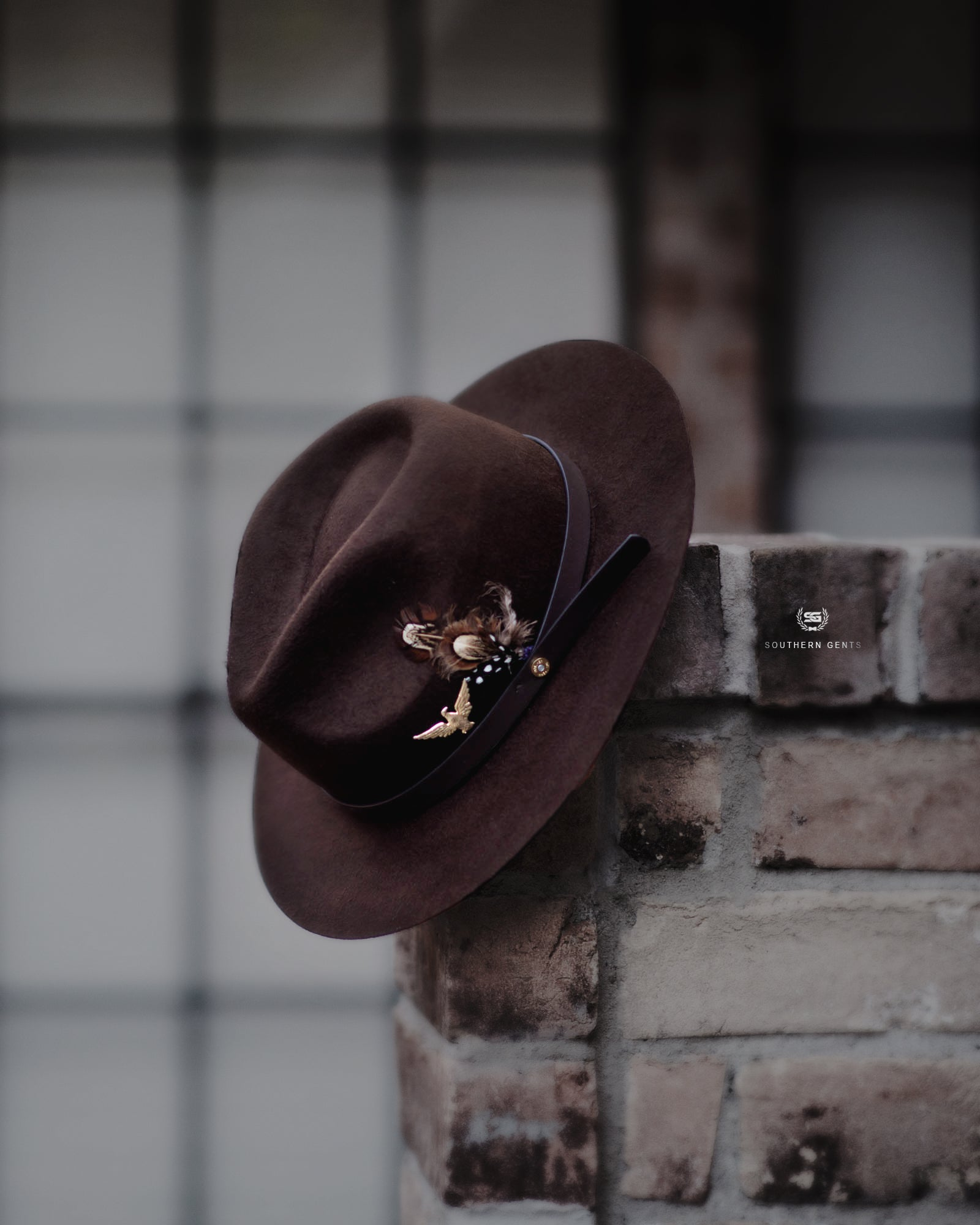 Dark Brown Fedora Southern Gents