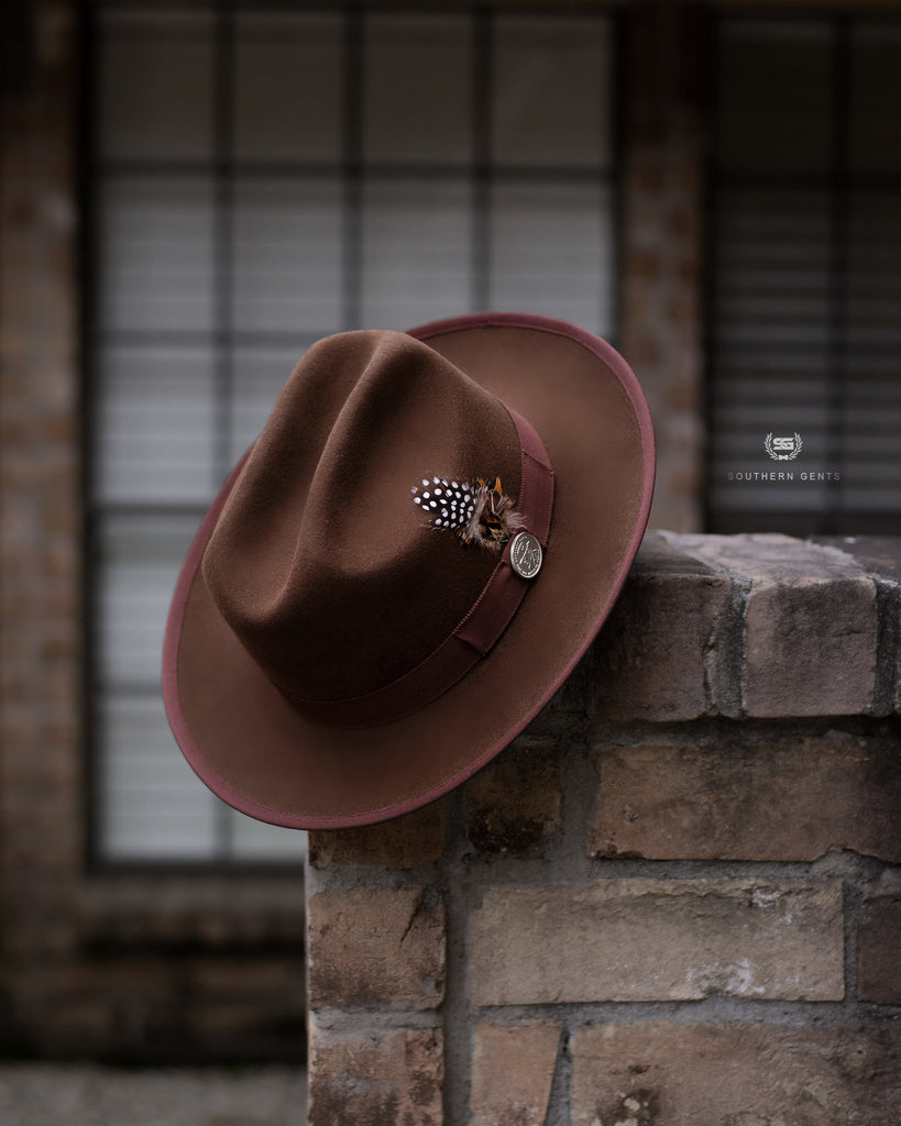 Southern Gents Miller Ranch Fedora - Chocolate Brown