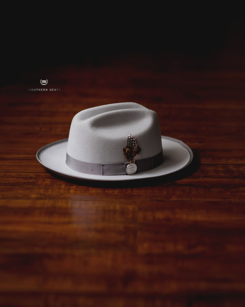 Southern Gents Miller Ranch Fedora Grey Platinum