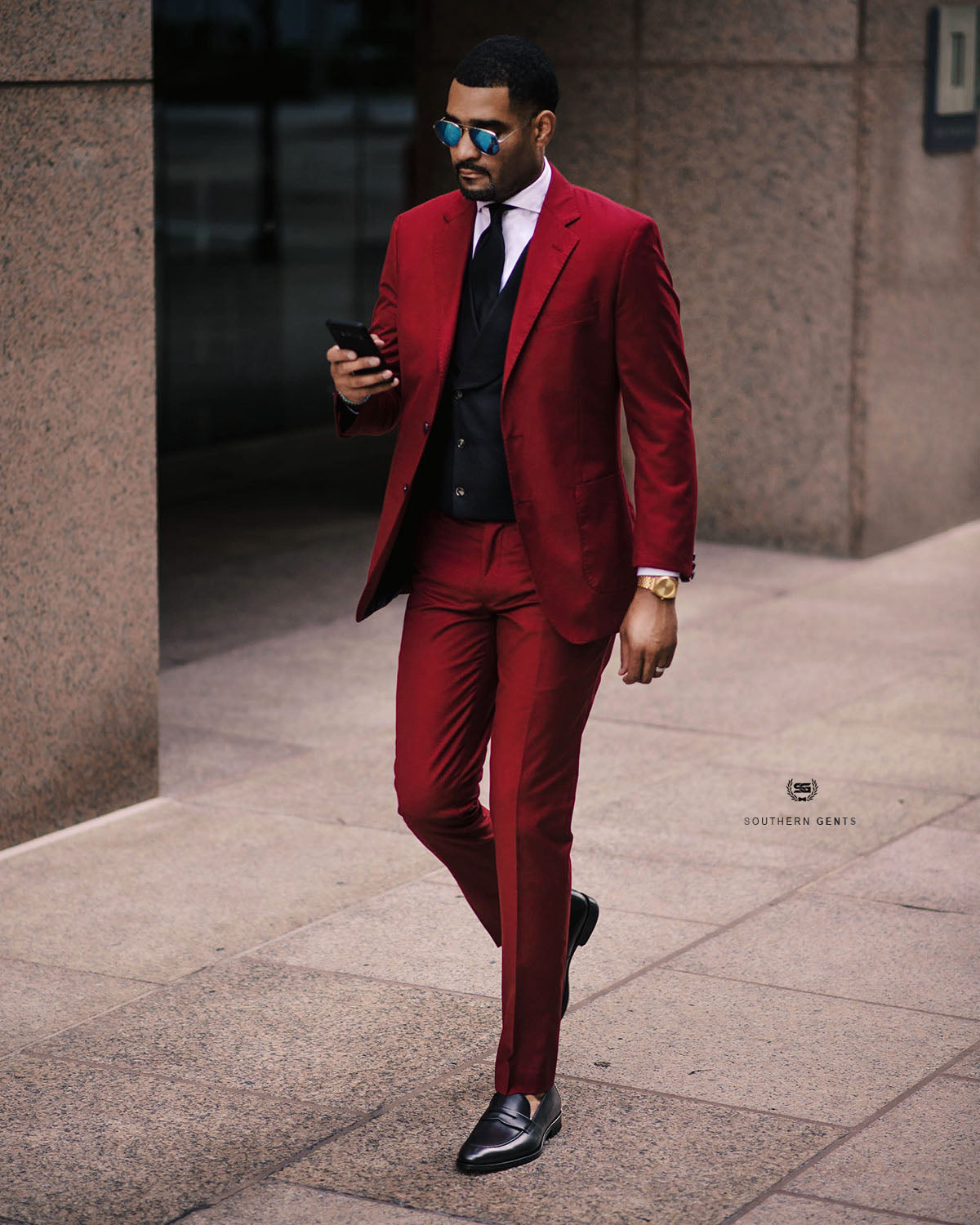 Southern Gents Red Blazer Red Suit Crimson Suit