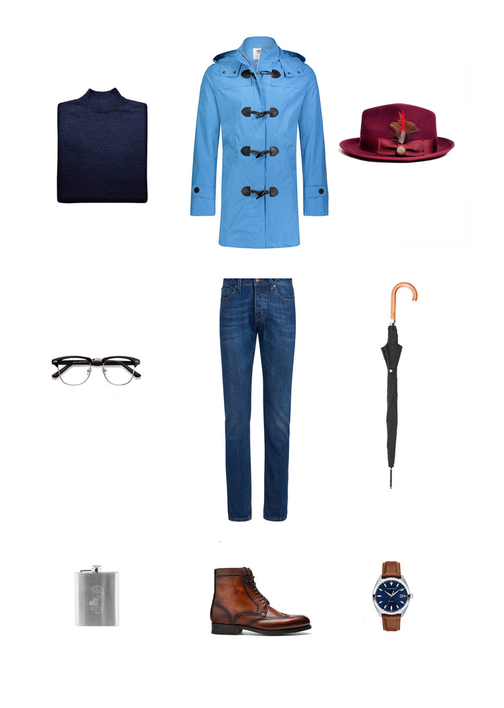 Southern Gents Smurf Blue Raincoat