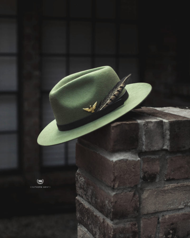 Southern Gent's Men's Women's Olive Green Fedora