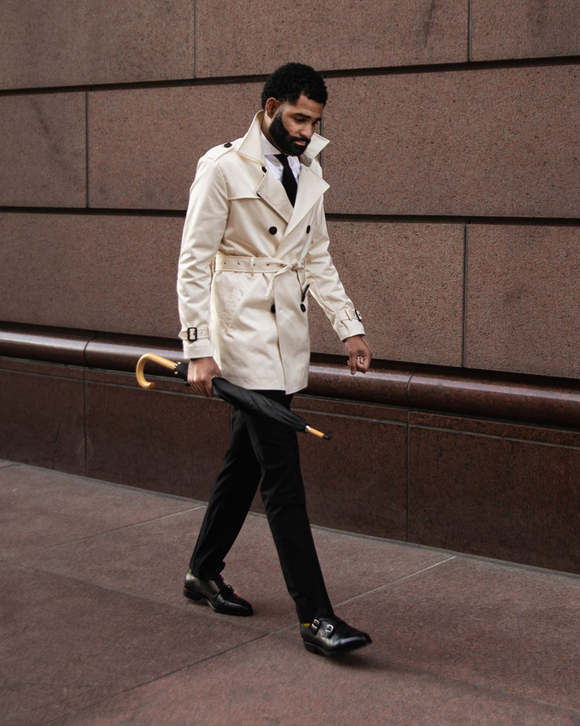 Southern Gents Ivory Trench Coat