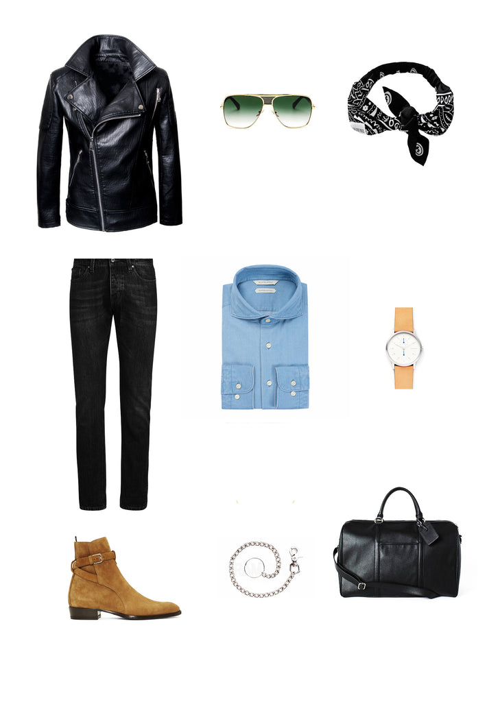Southern Gents Biker Jacket -  Men's Streetstyle Outfit Grid