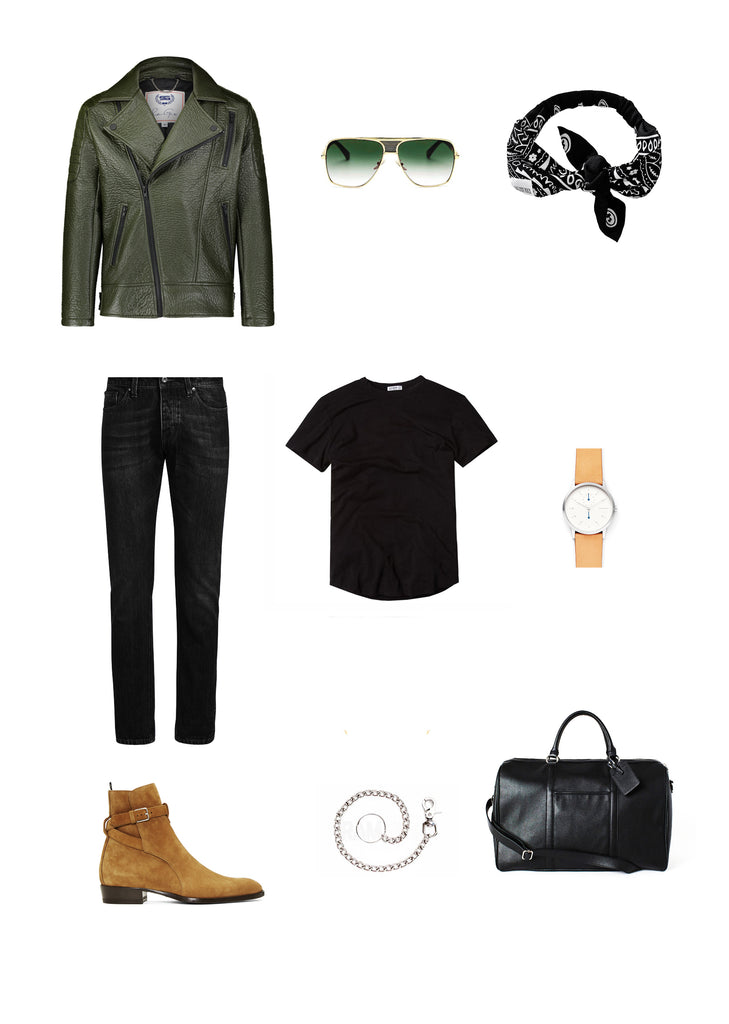 Southern Gents Biker Jacket-  Men's Streetstyle Outfit Grid