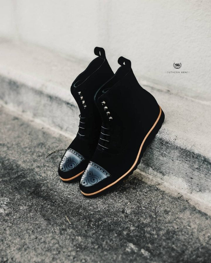 Southern Gents Logan Sport Boot Triple Black + Caramel