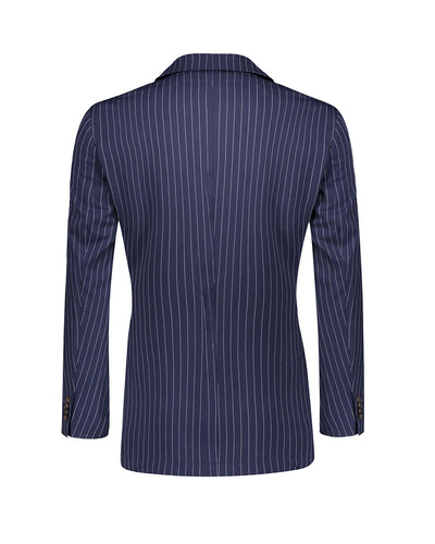 Southern Gents Navy Pinstripe Double Breasted Blazer