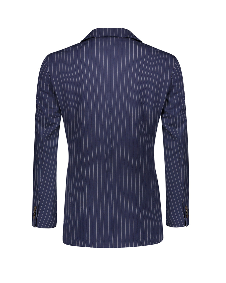 SG Double Breasted Blazer – Navy Pinstripe