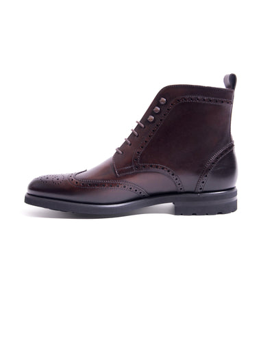 SG Rogue Wingtip Boots – Dark Brown