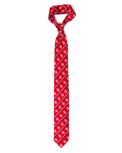 Men's UH Signature red silk tie. University of Houston Tie