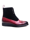 Southern Gents Mens Captoe Logan Sport Boots Cherry + Black
