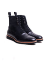 Southern Gent Logan Captoe Boot Black Leather Suede
