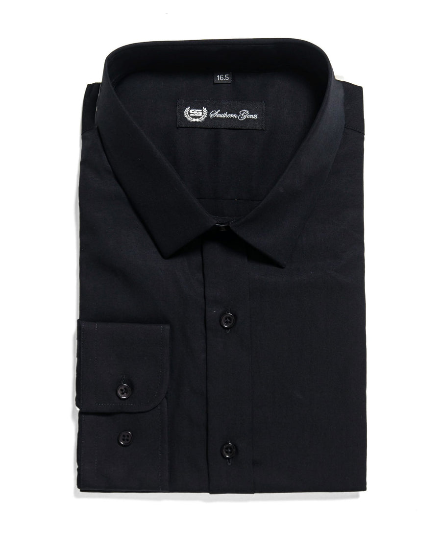 SG 'Mini Collar' Dress Shirt –  Black