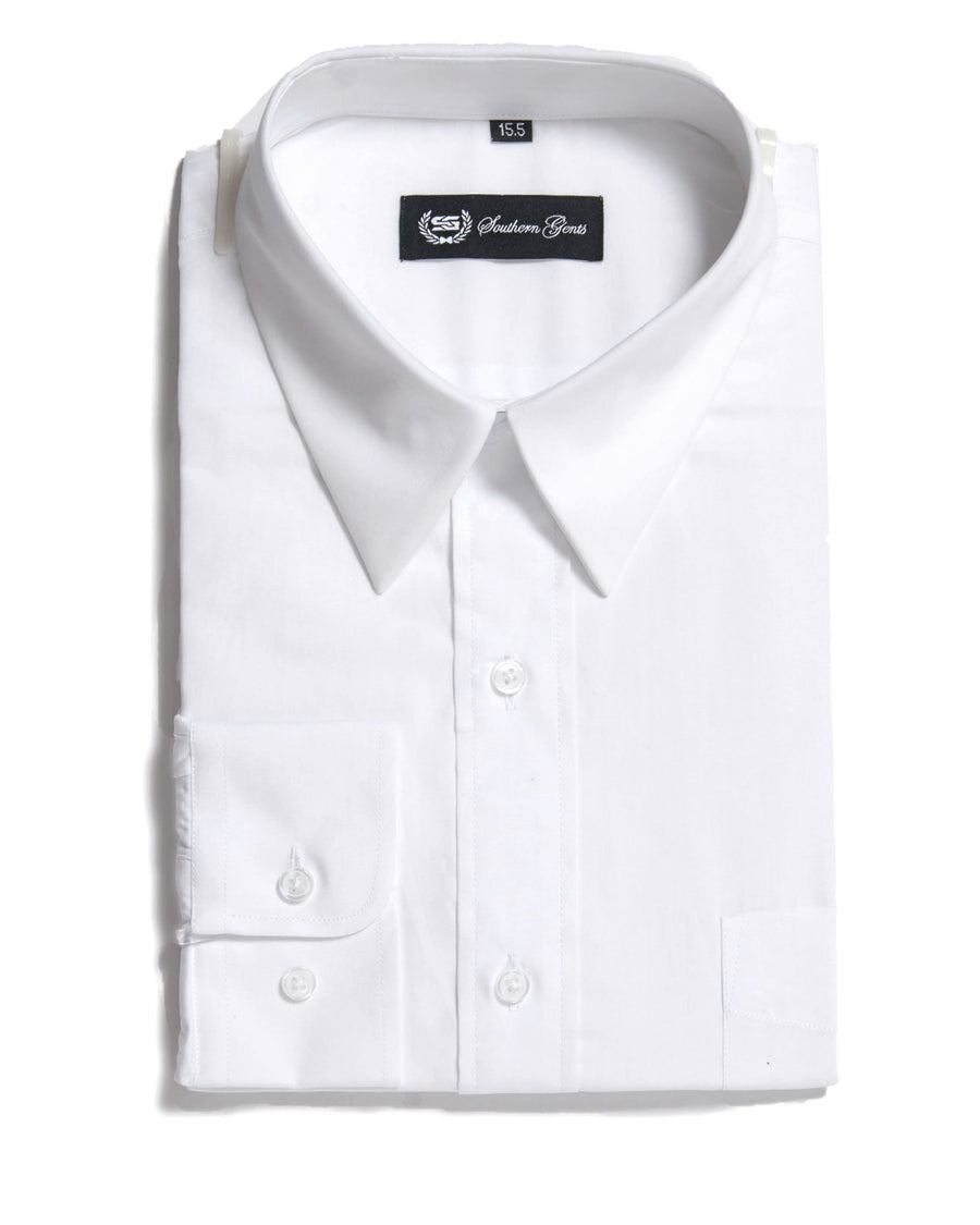 SG 'American Point Collar' Dress Shirt –  White