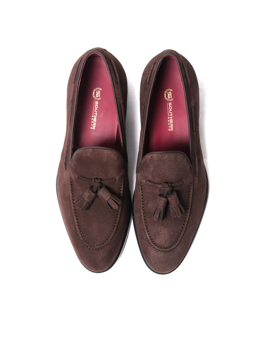 SG Newton Tassle Loafer – Chocolate Suede