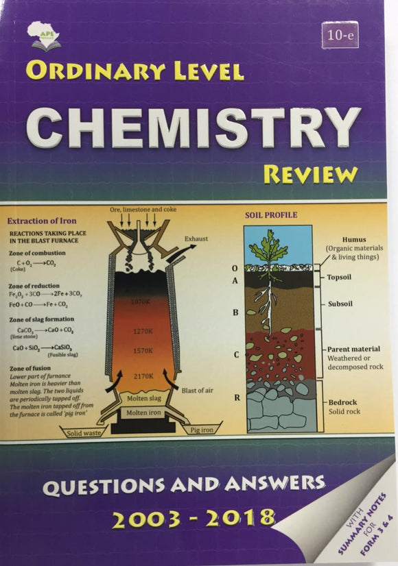 Ordinary Level Chemistry Review APE - Shop Online in Tanzania | Empire Greeting Cards Ltd