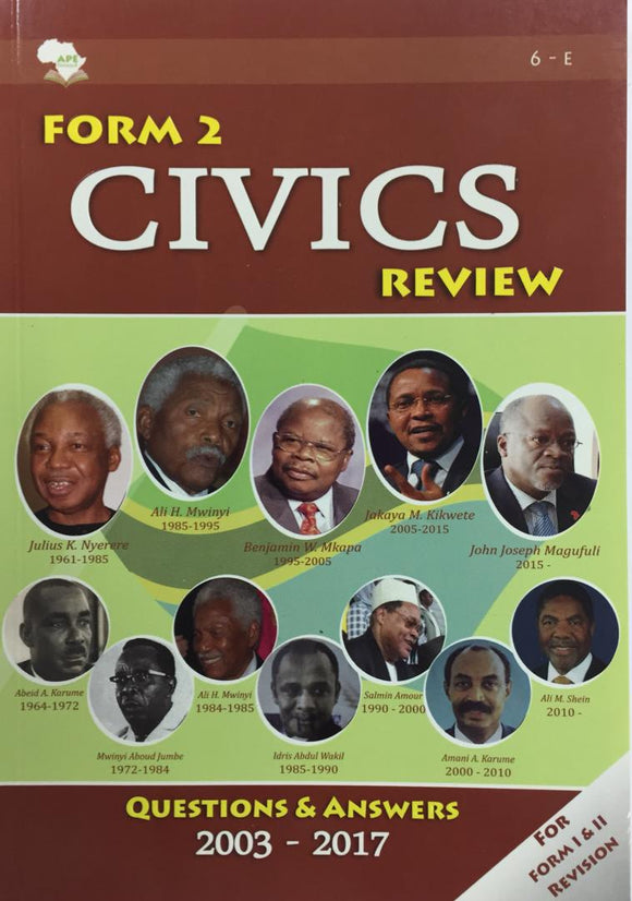 Form 2 Civics Review APE - Shop Online in Tanzania | Empire Greeting Cards Ltd
