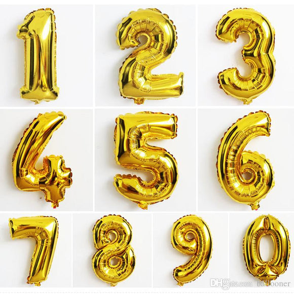 Number Balloons 16