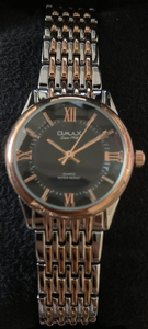 OMAX Silver Gold Black Dial Watch | Ladies Watches in Dar Tz