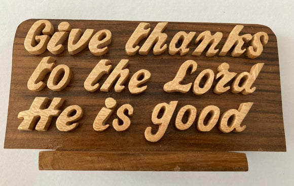 Wooden God Lord Quotation Frame | African Crafts in Dar Tanzania