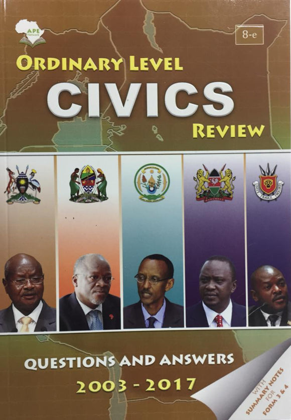Ordinary Level Civics Review APE - Shop Online in Tanzania | Empire Greeting Cards Ltd