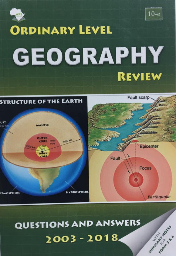 Ordinary Level Geography Review APE - Shop Online in Tanzania | Empire Greeting Cards Ltd