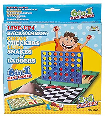 6 in 1 Mini Games | Ludo,Snake Ladders, Checkers,Connect4