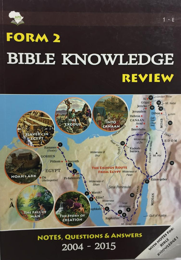 Form 2 Bible Knowledge Review APE - Shop Online in Tanzania | Empire Greeting Cards Ltd