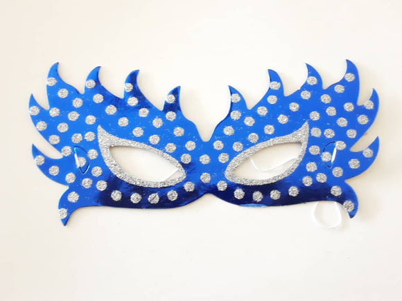 Blue Eye Masks Shiny With Glitter Dots | Party Masks in Dar Tanzania