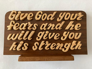 God Quotation Wooden Frame | Wooden crafts in Dar Tanzania