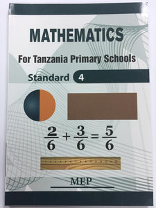 Mathematics For Tanzania Primary Schools Standard 4 MEP - Shop Online in Tanzania | Empire Greeting Cards Ltd