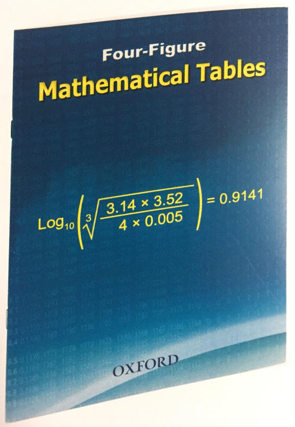 Four Figure Mathematical Tables OXFORD - Shop Online in Tanzania | Empire Greeting Cards Ltd
