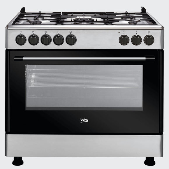 Beko Cooker Electric/4 Gas + 1 Wok GE15120DX - Shop Online in Tanzania | Empire Greeting Cards Ltd