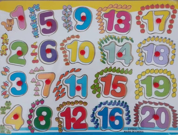 Colour Wooden Number Pegs | Educational Wooden Toys in Dar