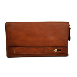 Ladies Handmade Italian Leather Zip Pouch