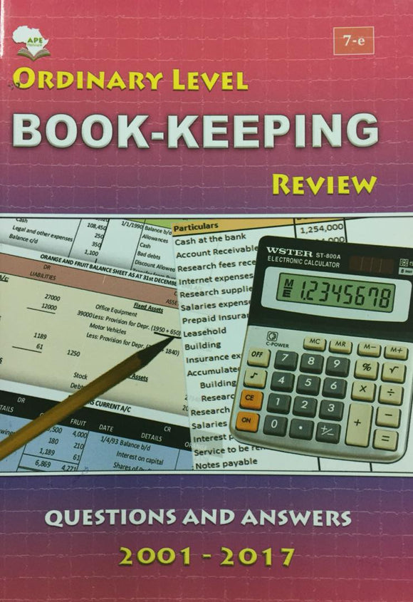 Ordinary Level Book-Keeping Review APE - Shop Online in Tanzania | Empire Greeting Cards Ltd