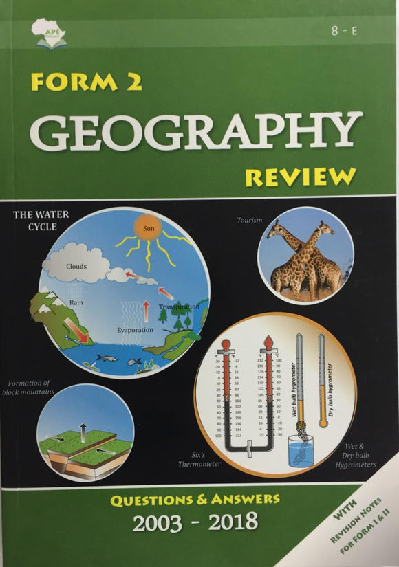 Form 2 Geography Review APE - Shop Online in Tanzania | Empire Greeting Cards Ltd