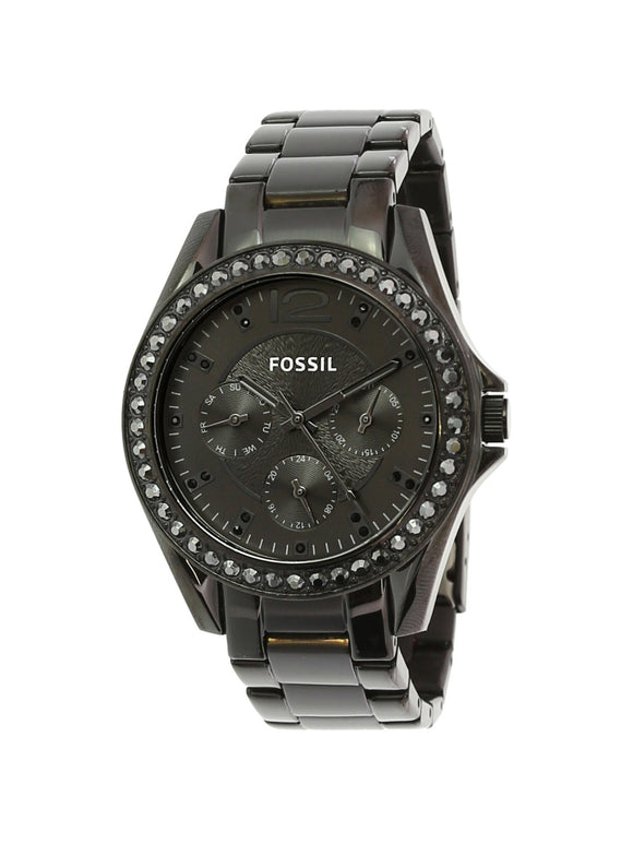 Ladies Fossil Riley Black Stainless Steel Watch ES4519 - Shop Online in Tanzania