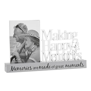 "Making Happy Memories Glass Frame 4"" x 6"" with Wooden Base SHUDEHILL - Shop Online in Tanzania 