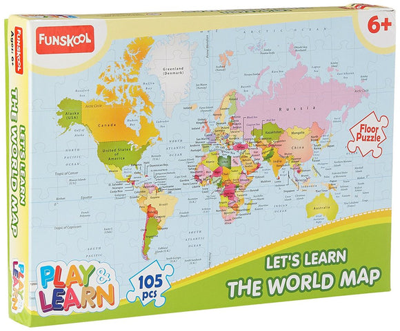 FUNSKOOL 105pc World Map Puzzles | Puzzles in Dar Tanzania