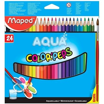 MAPED Aqua Color Peps Watercolour Pencils 24pc Pack | Maped