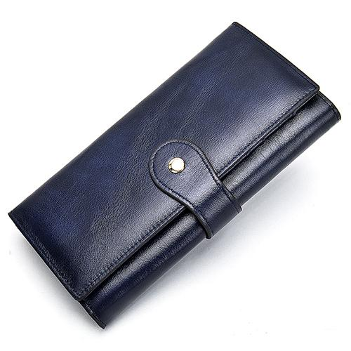 Ladies Genuine Leather Clutch Wallet | HS Pouch