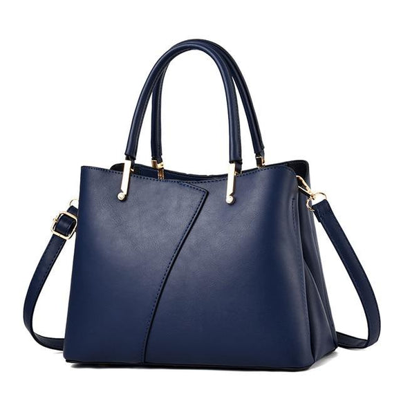 Ladies Luxury Center Patchwork Tote Shoulder Bag