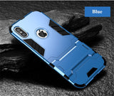 Hybrid Shockproof Armor Hard iPhone Cover in Dar