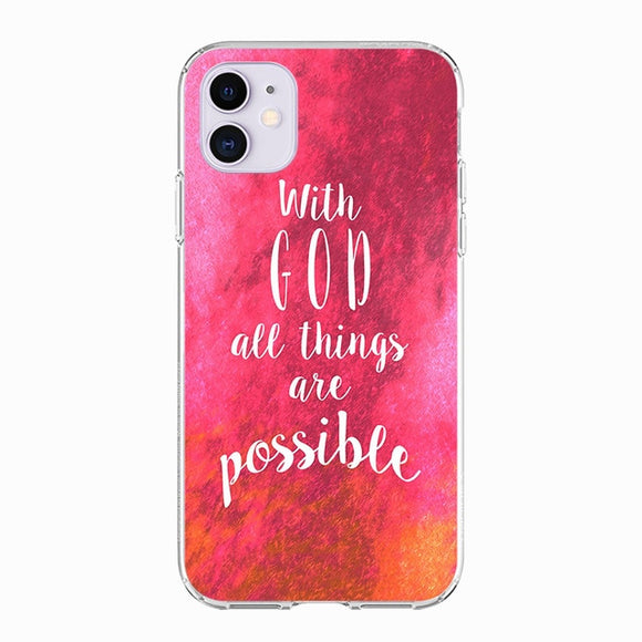 Bible Quotes Silicone iPhone Cover